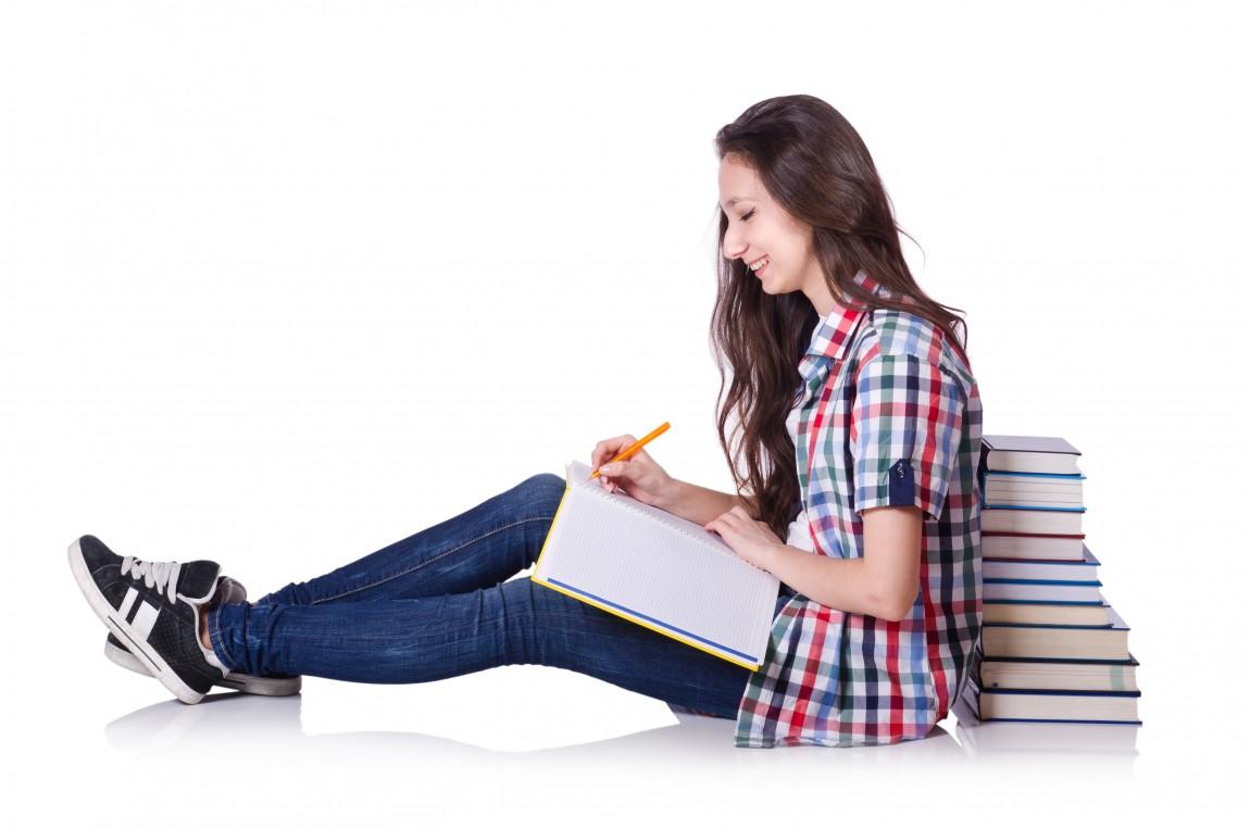 Pige der læser