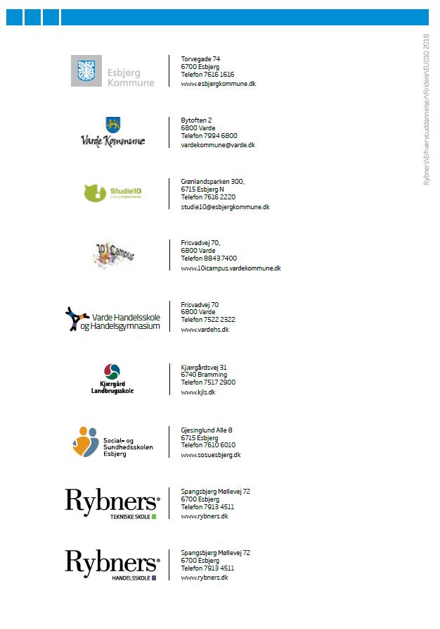Eud folder - oversigt over institutioner, der er tilknyttet