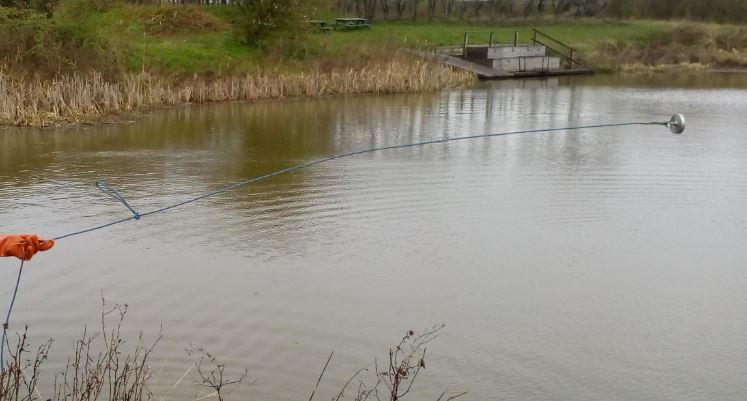 Billede af søen ved skolen