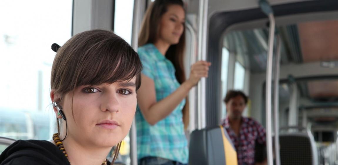 Unge i bus